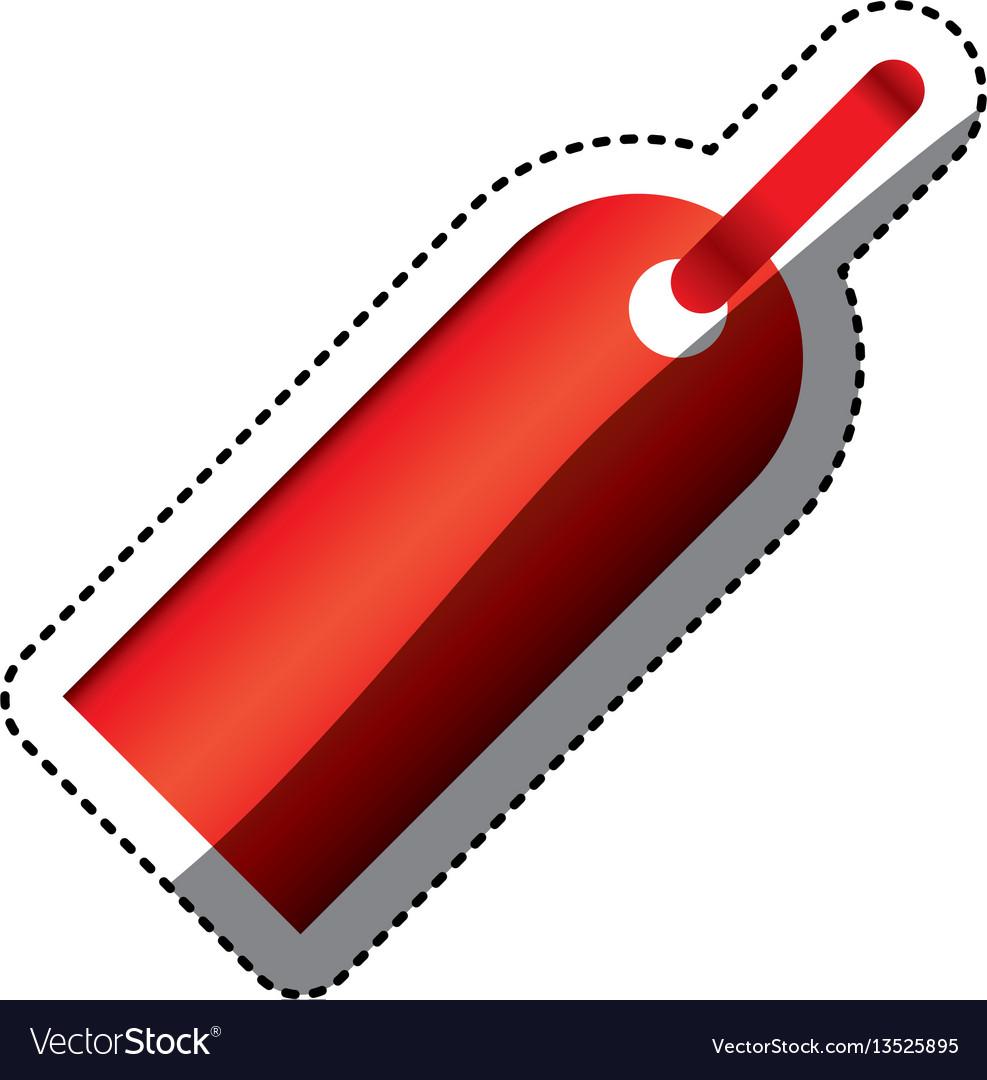 Color tag sign icon