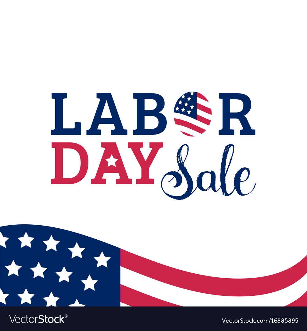 Labor Day Sale Hand Lettering Background