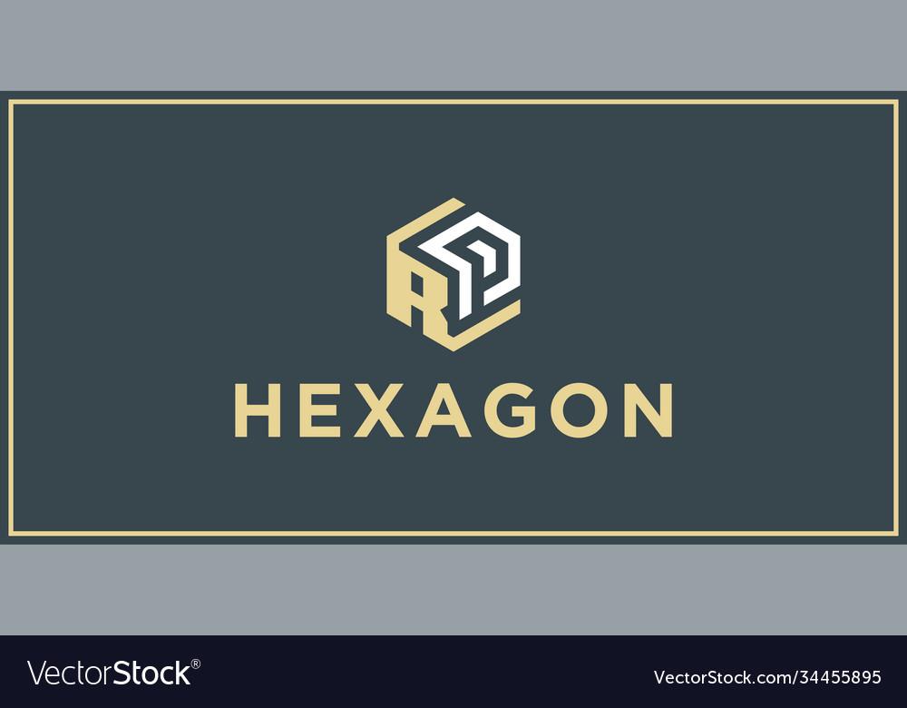 Rp hexagon logo design inspiration