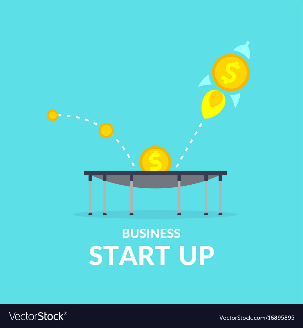 Start up in flat style income and success