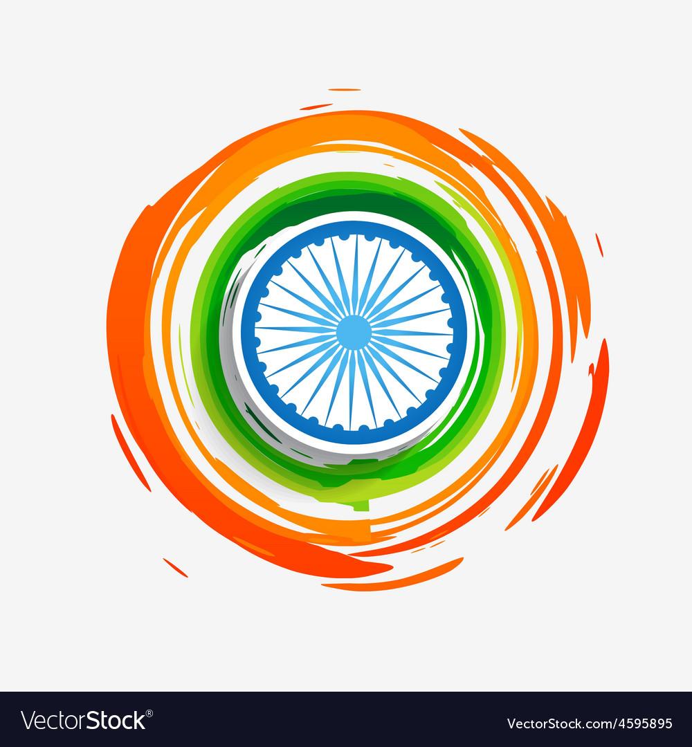 stylish creative indian flag royalty free vector image