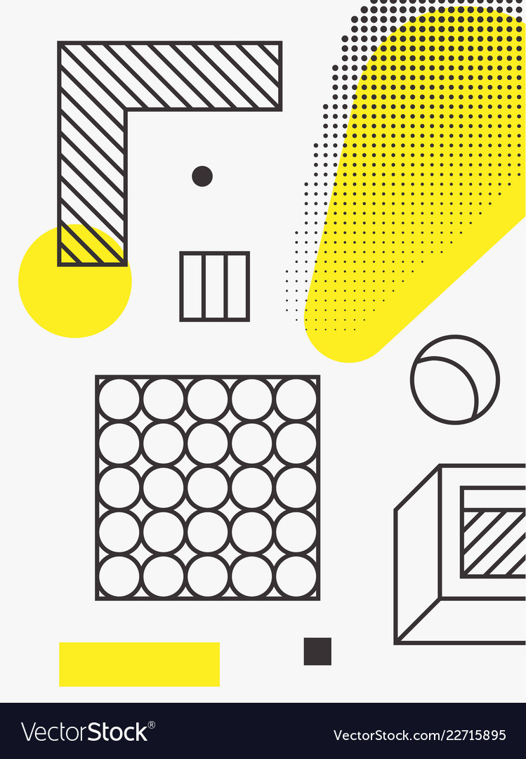 Universal trend poster linear geometric shapes