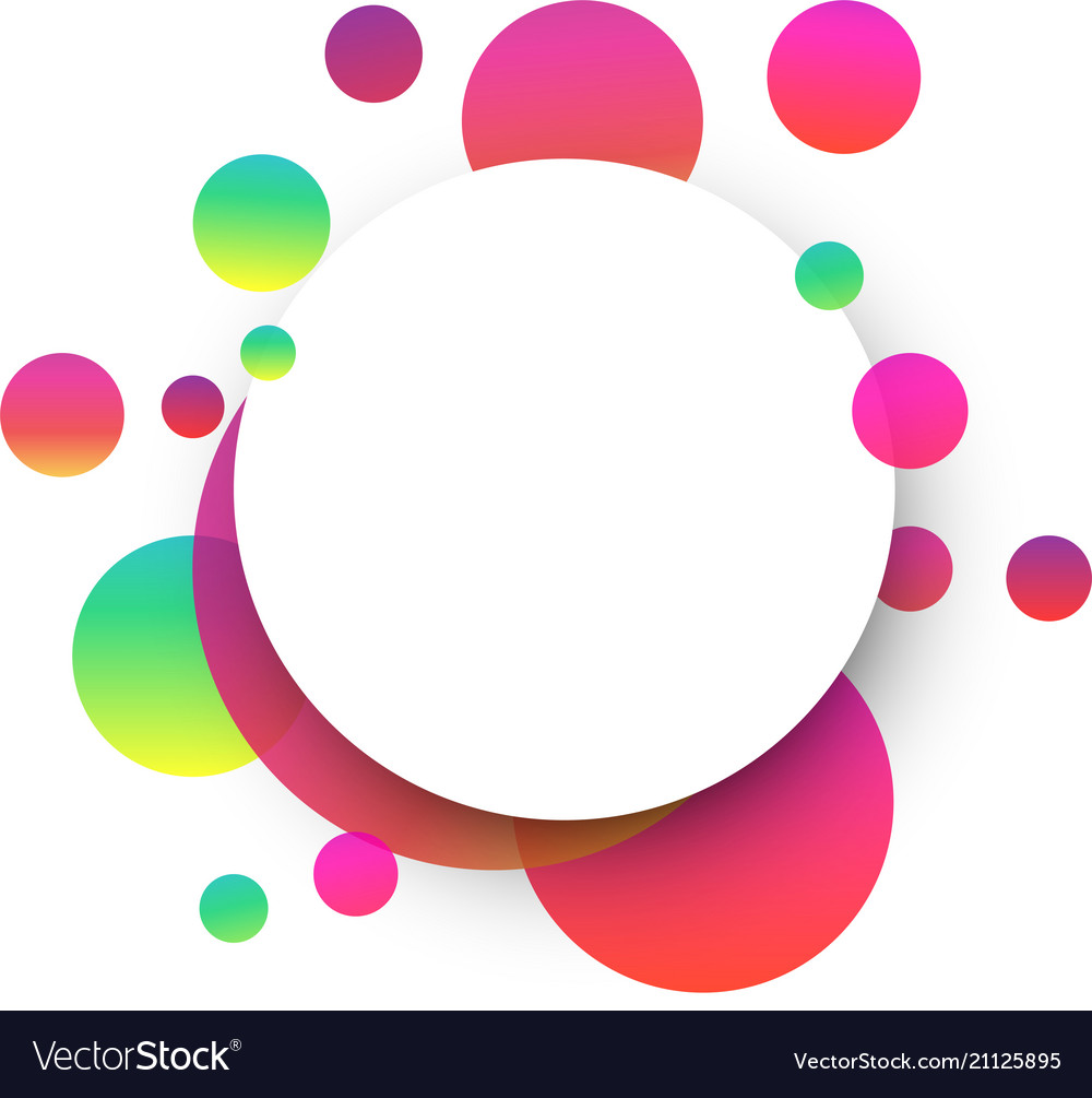 White Round Background With Colour Bubbles