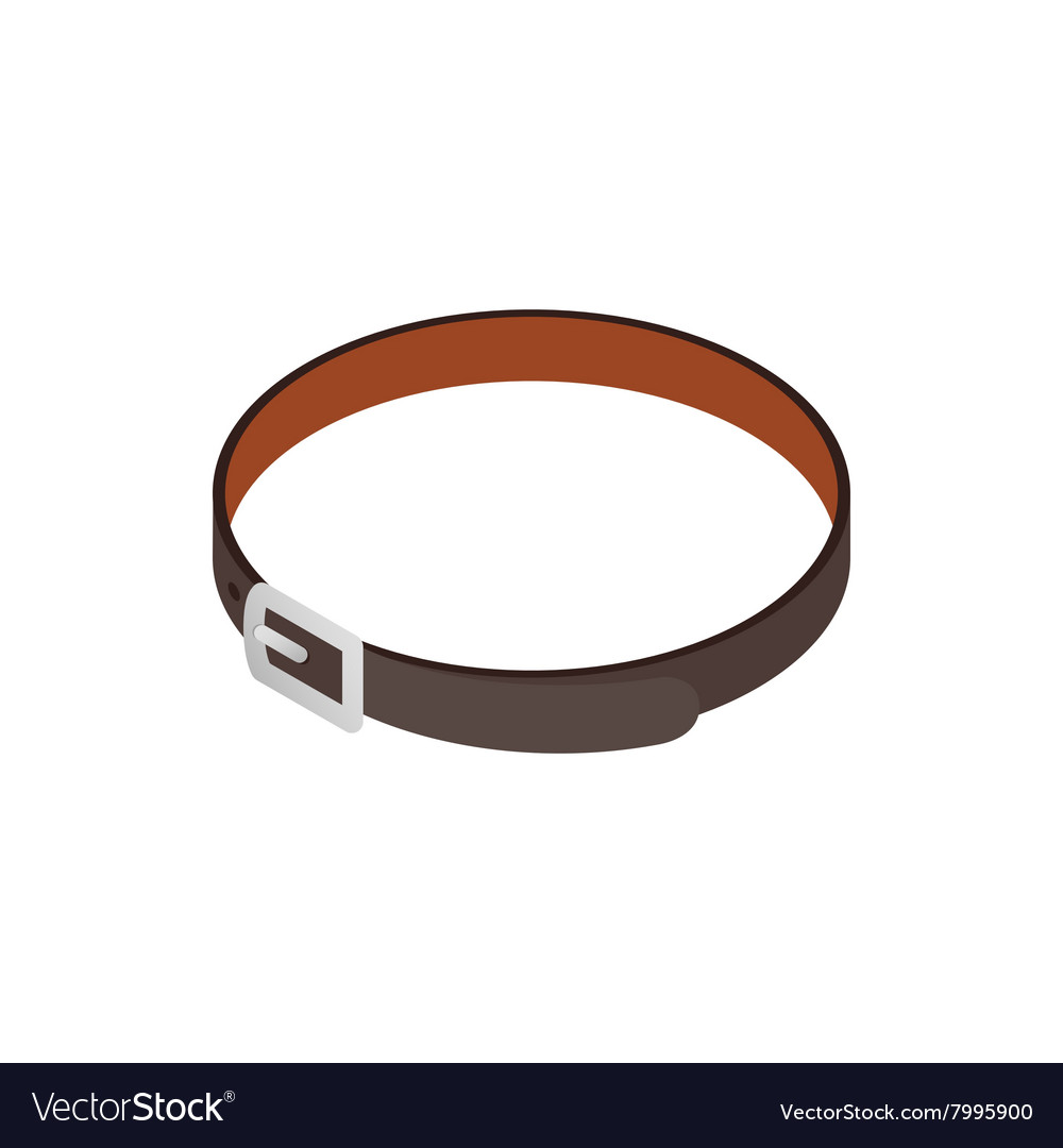 Black belt icon isometric 3d style vector image