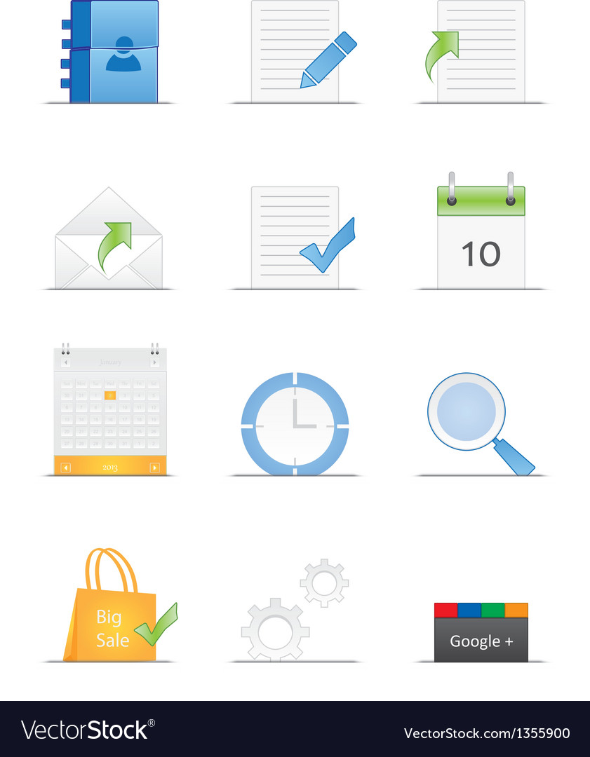 Clean designed web icons