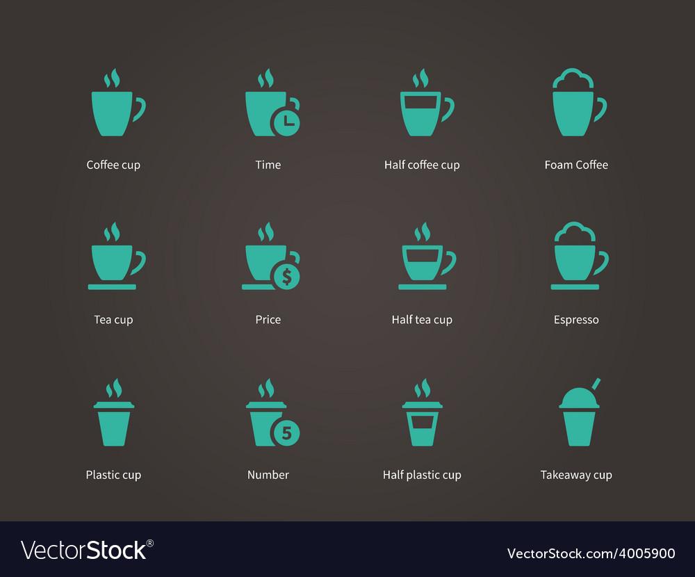Coffee cup and Tea mug icons