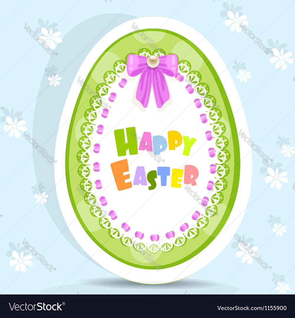 Easter egg-laced postcard
