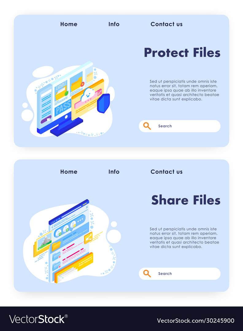 File sharing website landing page template