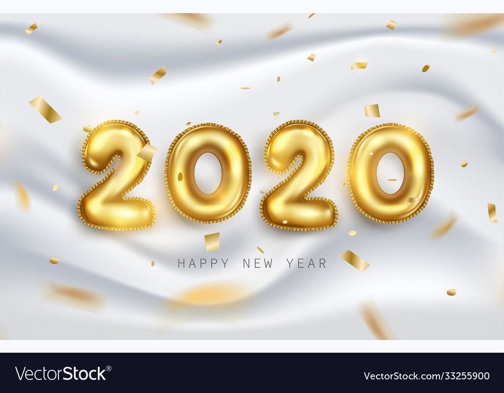 Happy new year 2020 background design with