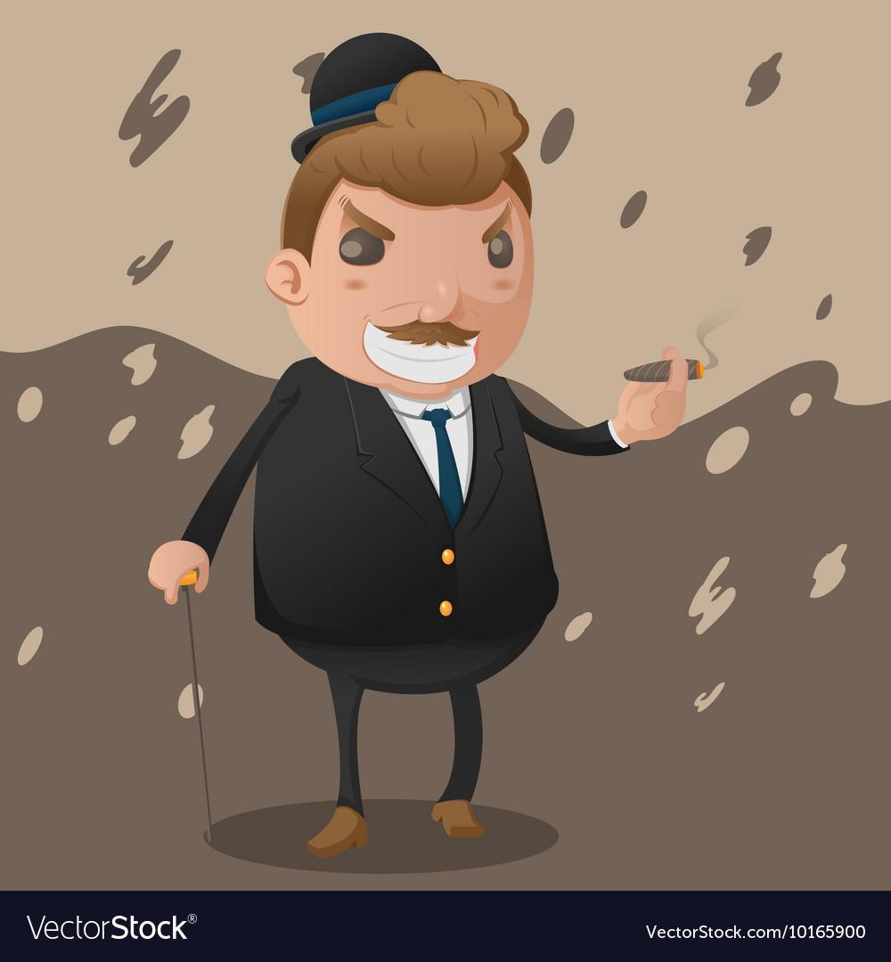 Mafia Man Character Mascot Godfather