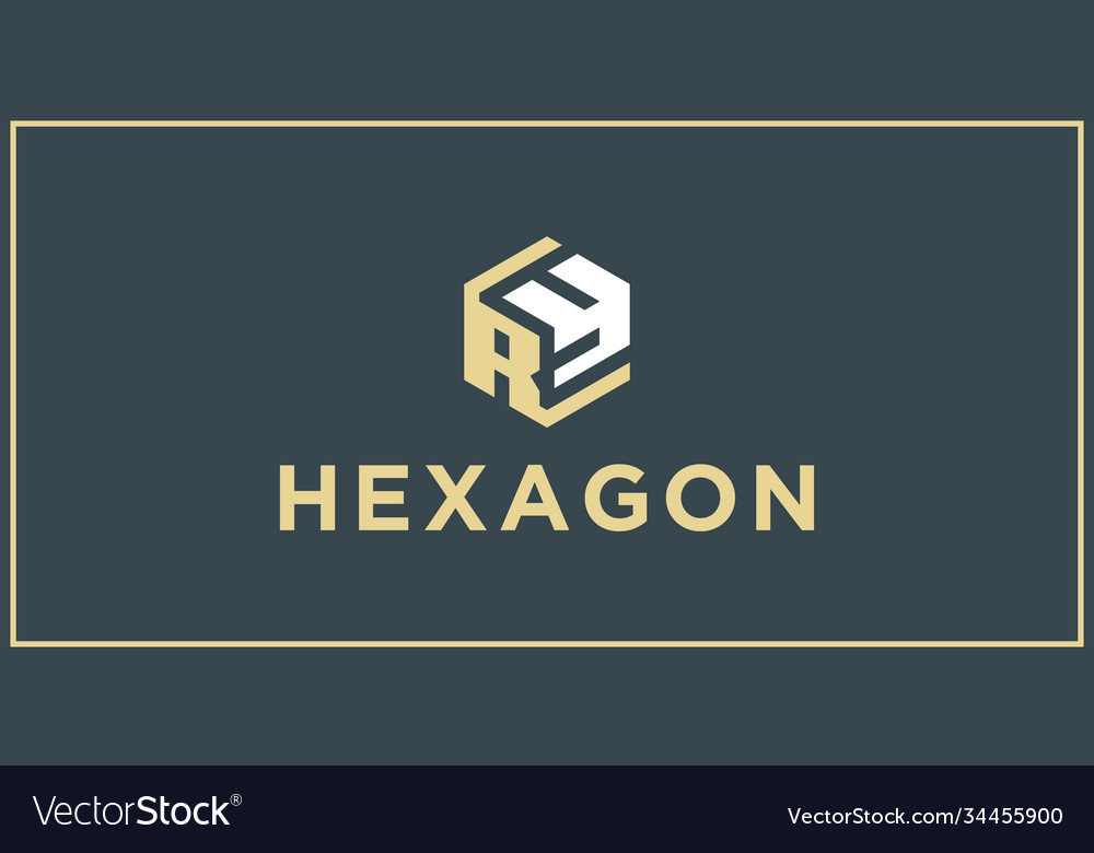Ry hexagon logo design inspiration