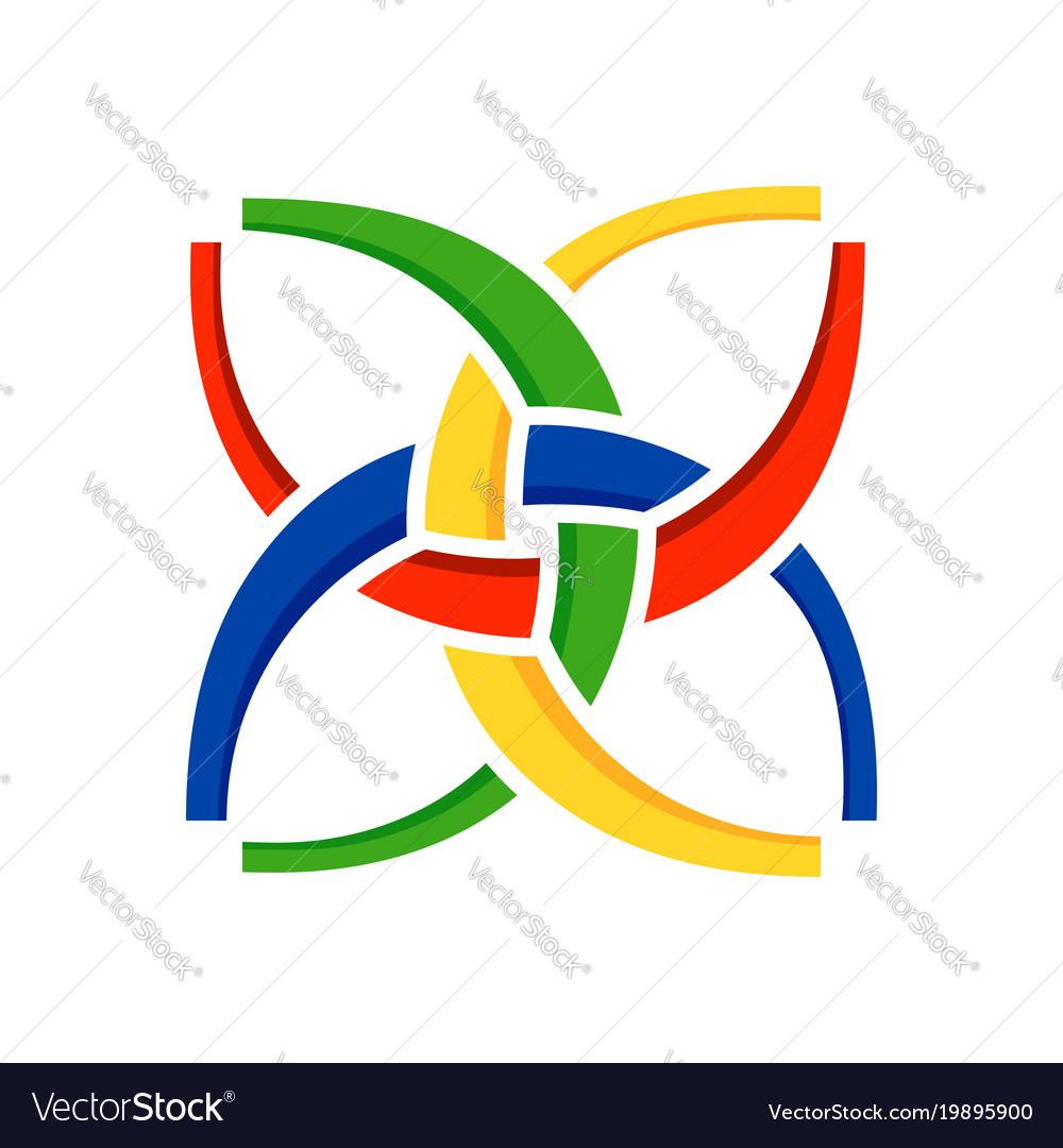 Unity In Harmony Symbol Design Royalty Free Vector Image