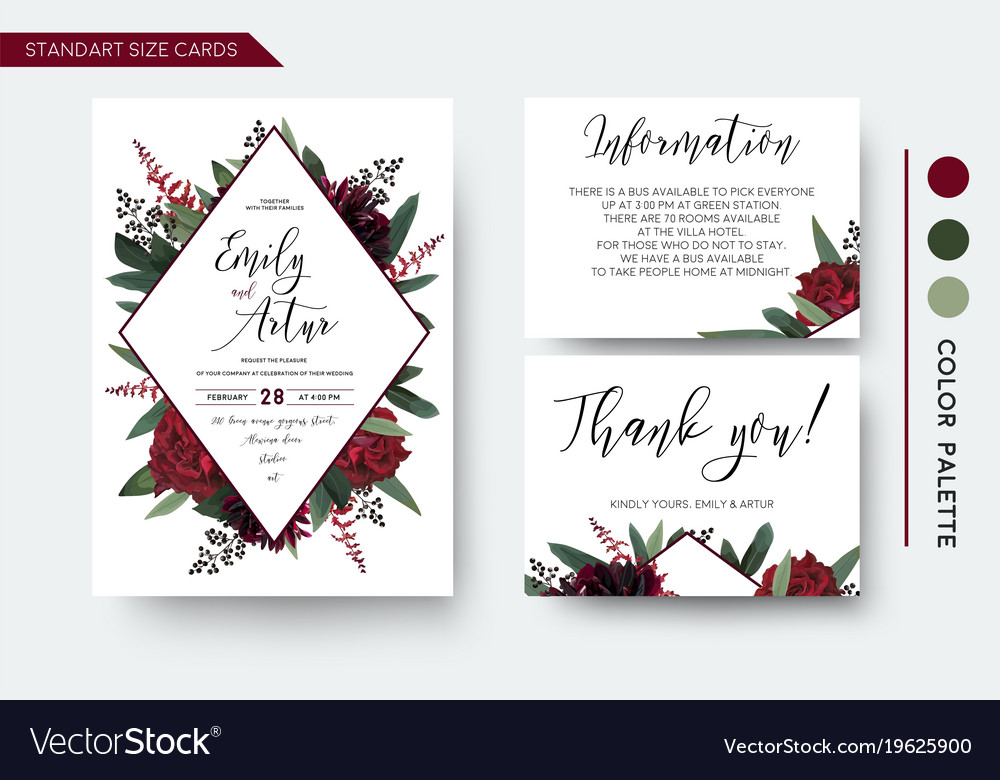 Wedding Invite Save The Date Thank You Card Design