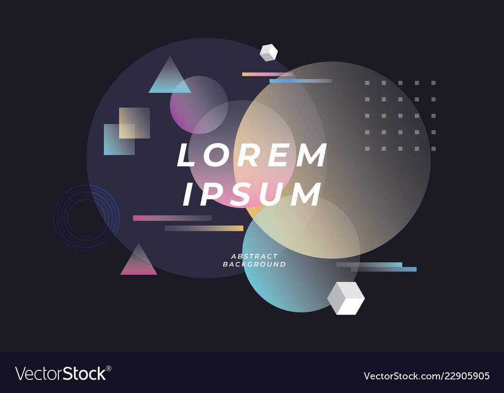 Abstract geometric composition background