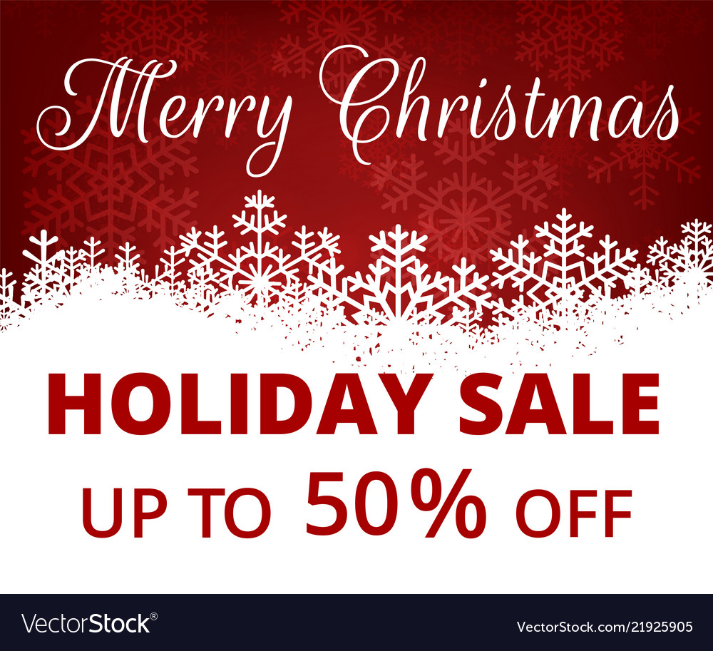 18551611a15b Banner for christmas sale Royalty Free Vector Image