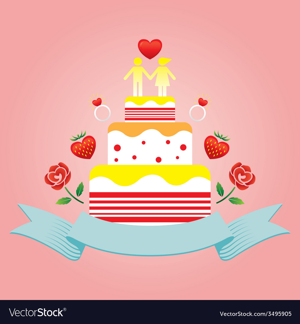 Human Symbol Lover on top of Cake vector image