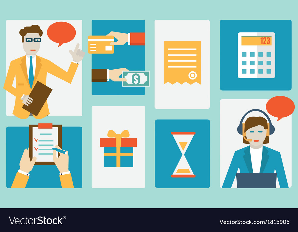 Process of internet shopping vector image