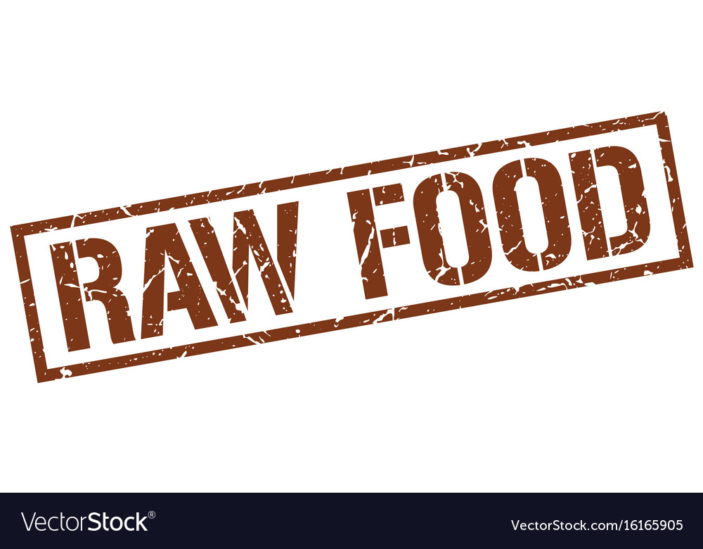 Raw food stamp vector image