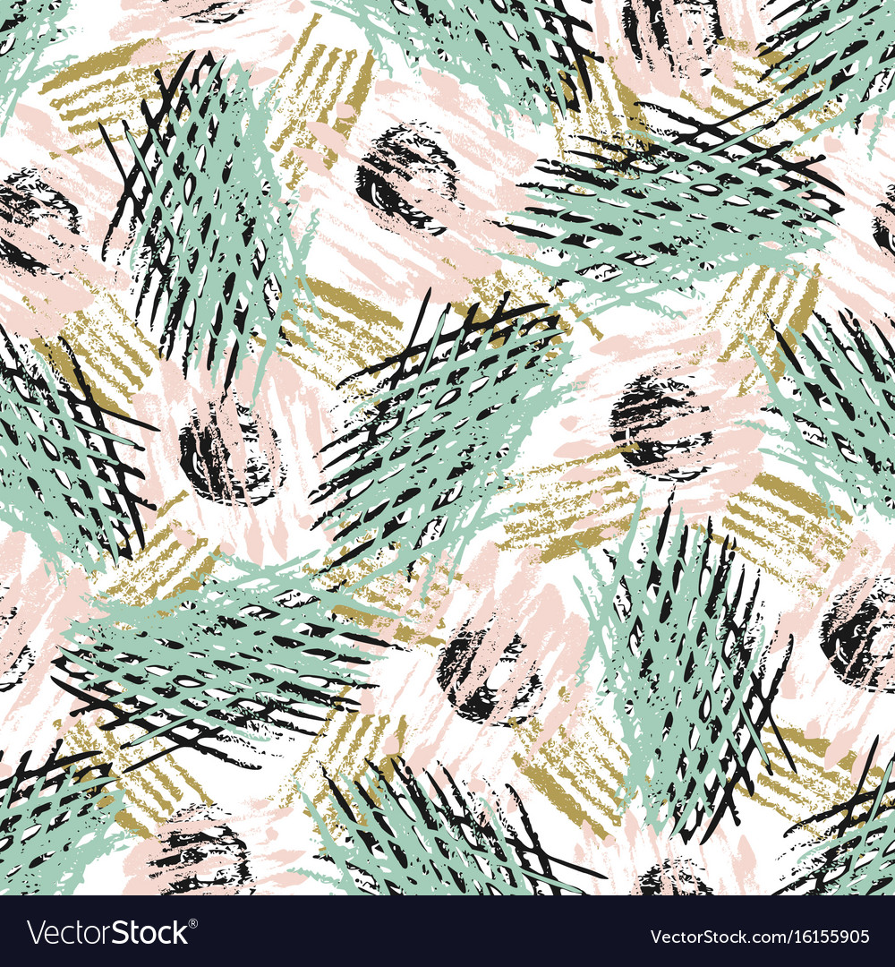 Seamless pattern with grunge textures modern