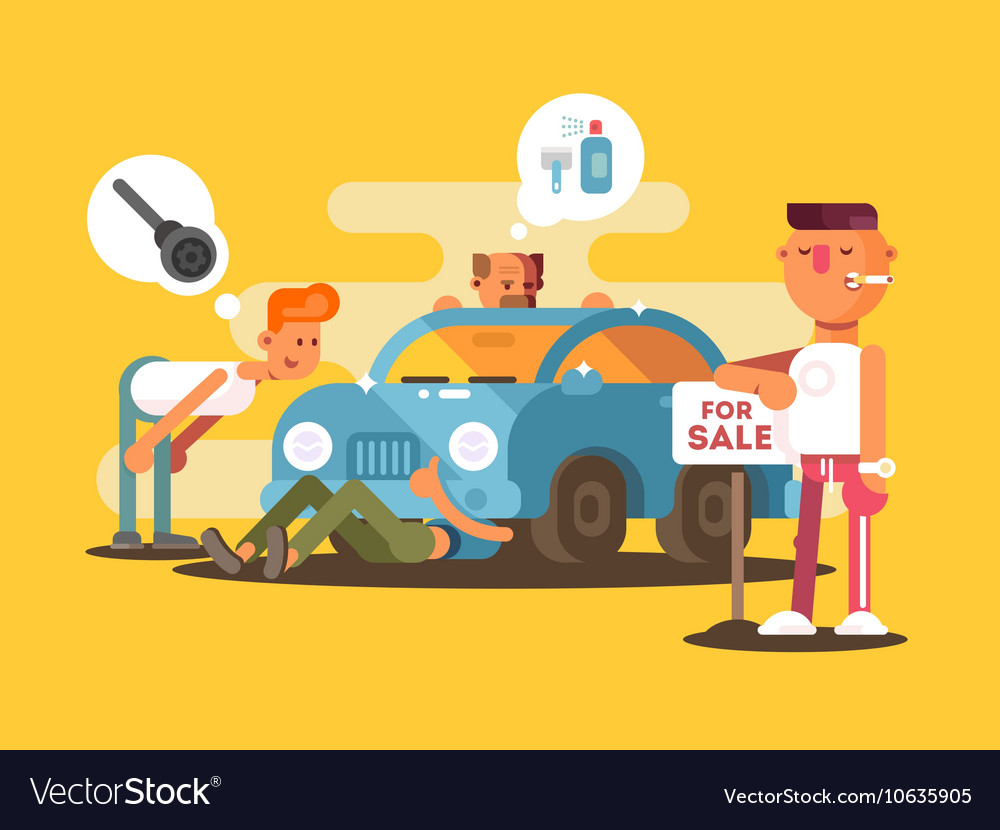 Setting car for sale vector image