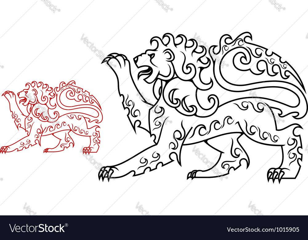 Vintage royal lion for heraldry or tattoo design