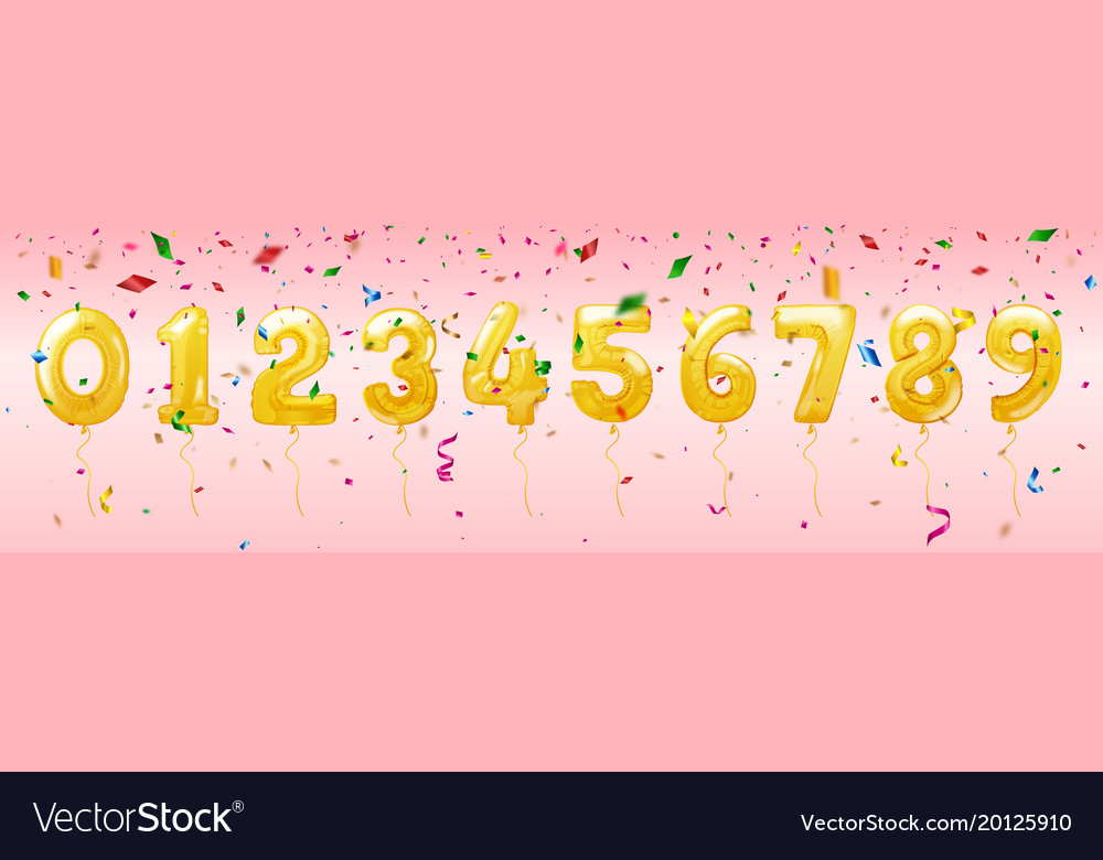 Birthday balloon numbers for celebration