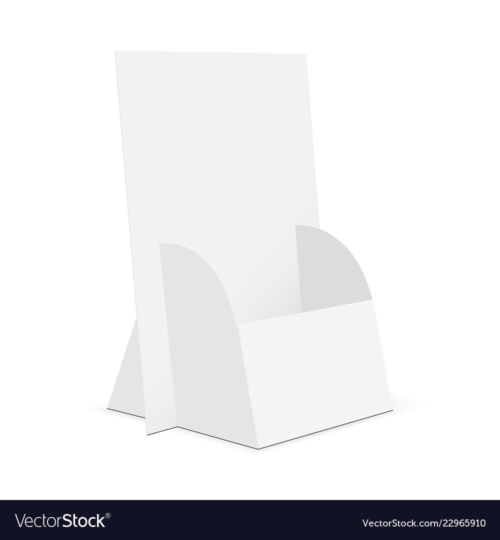 Cardboard brochure display stand Royalty Free Vector Image