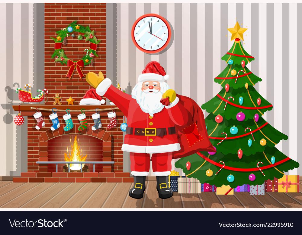 Christmas interior room