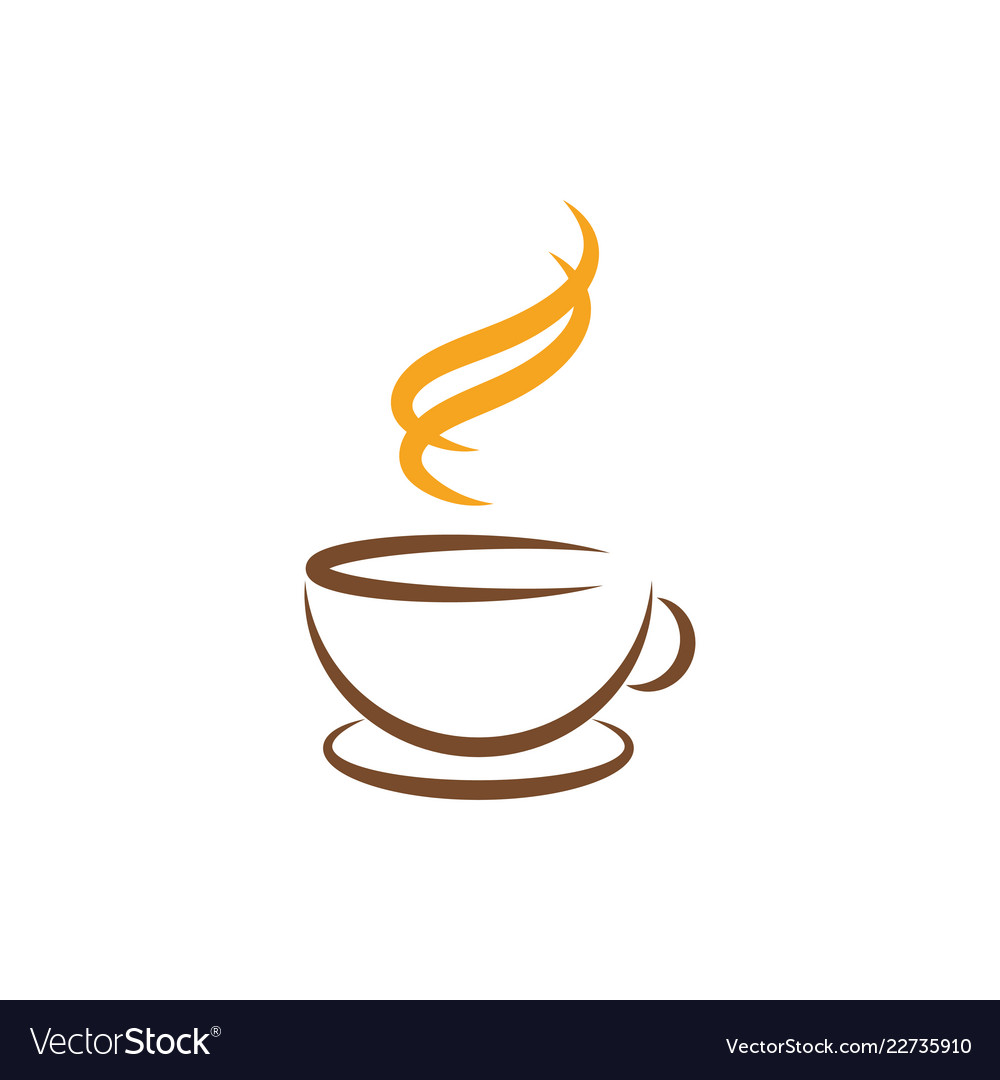 Coffee line art graphic design template