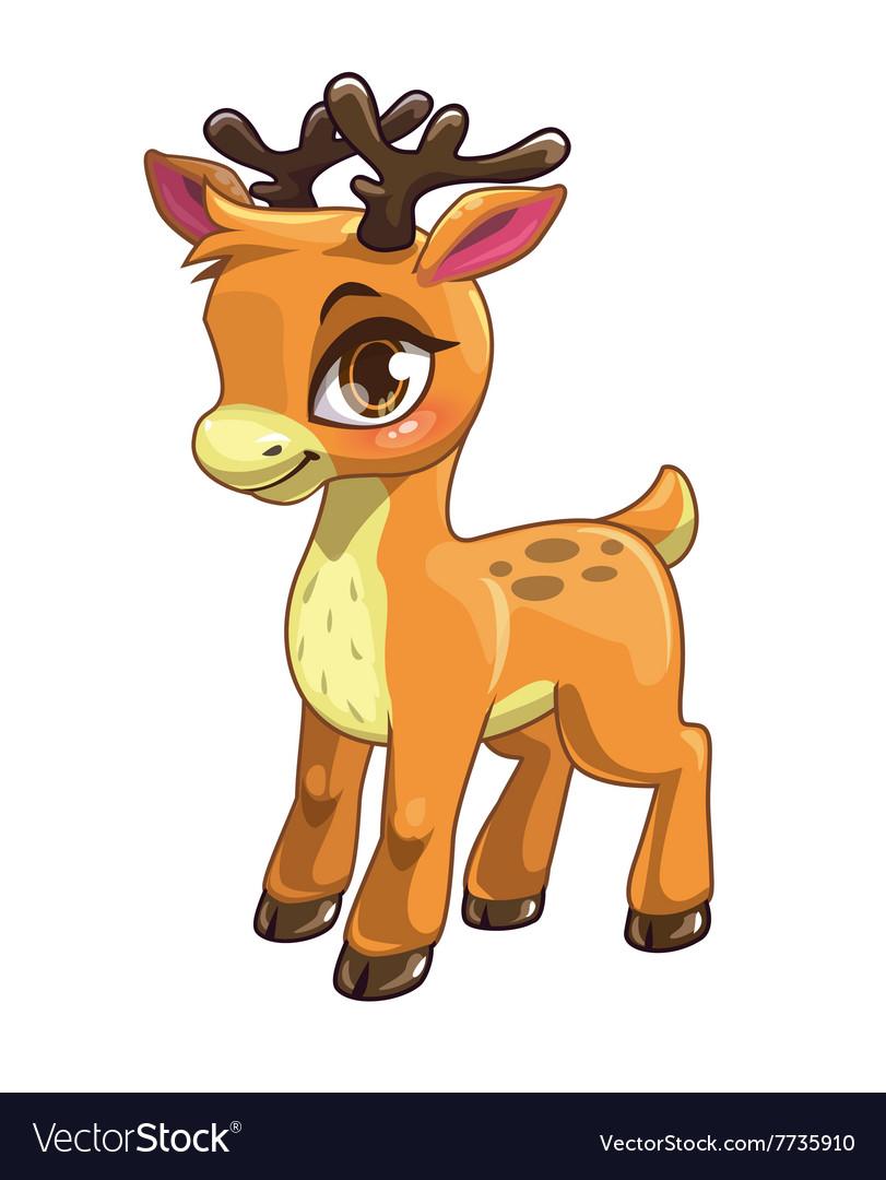 Cute cartoon baby deer