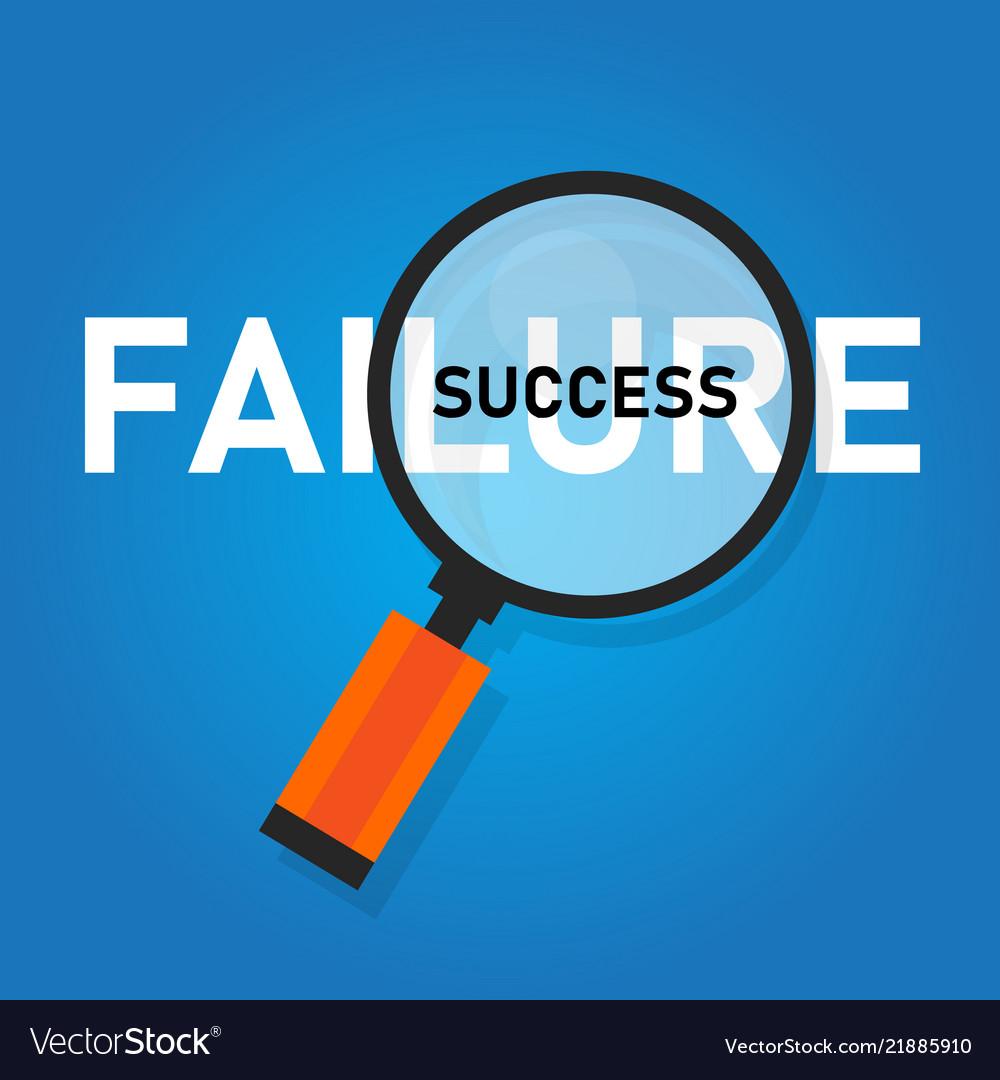 Failure is success in progress inspirational text