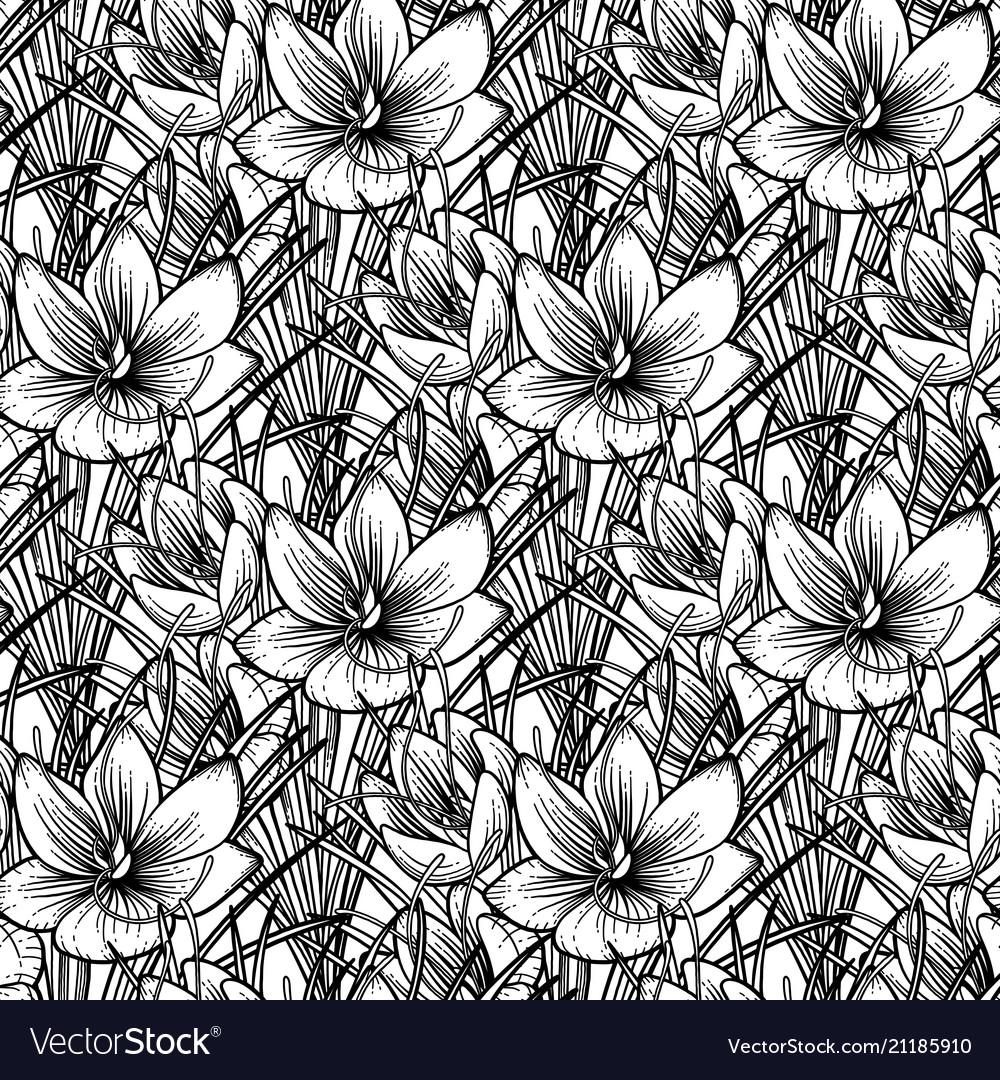 Graphic saffron pattern