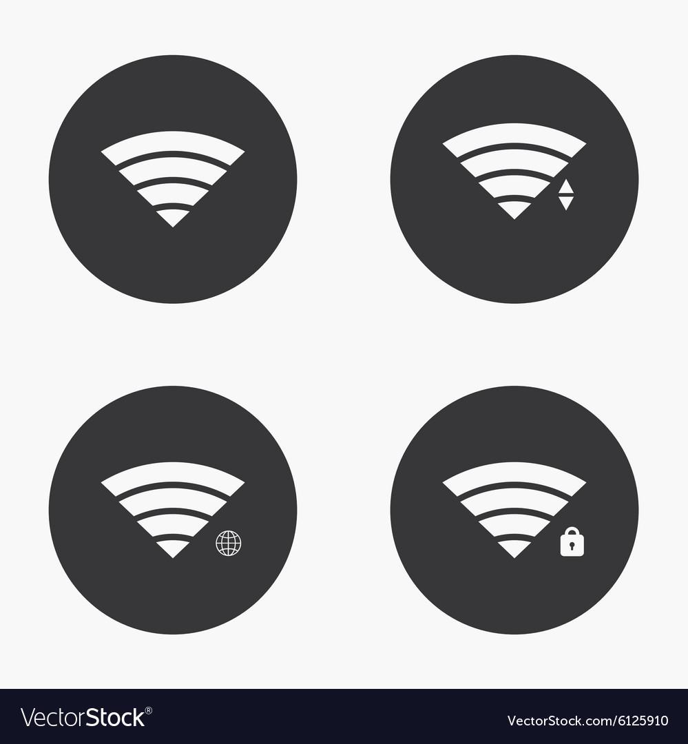 Modern wi fi icons set