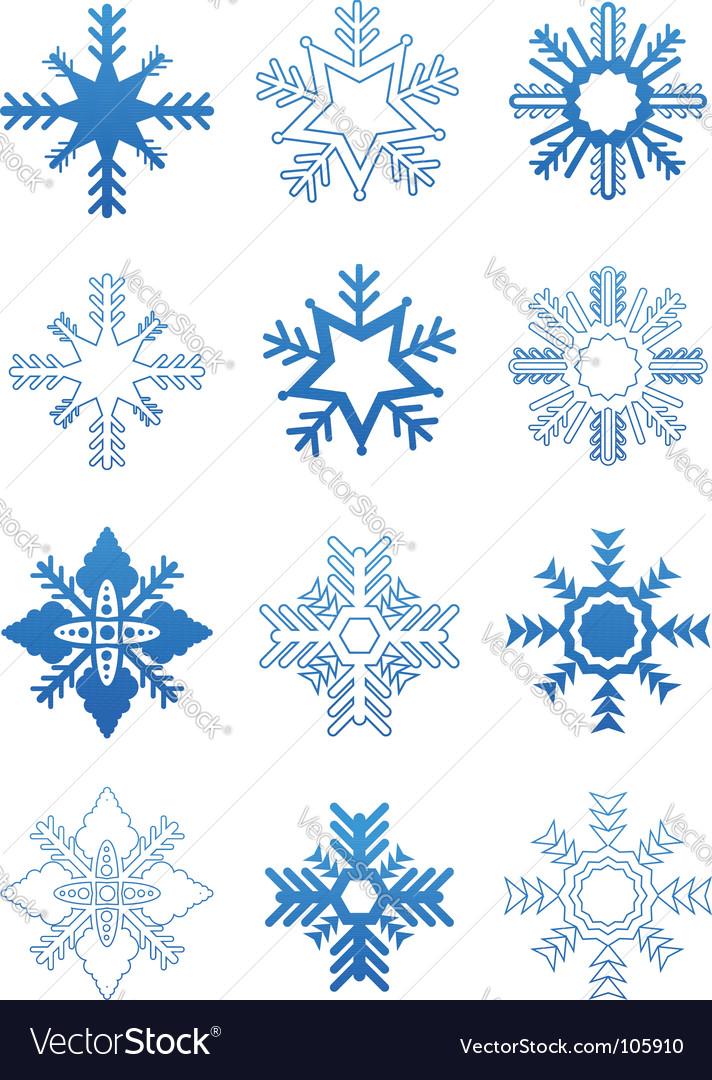 Set snowflakes