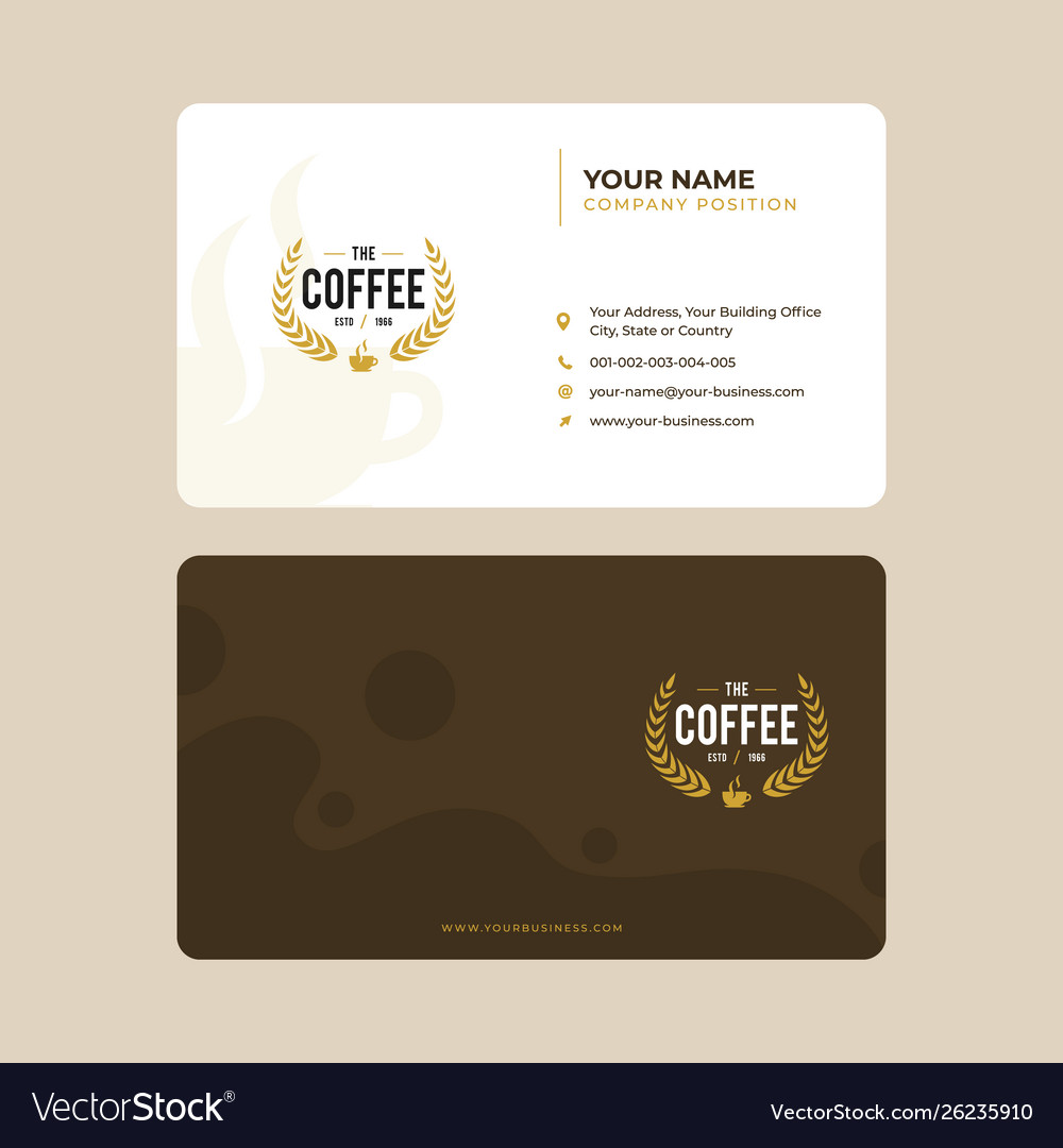 Vintage Coffee Spot Business Card Design Vector Image