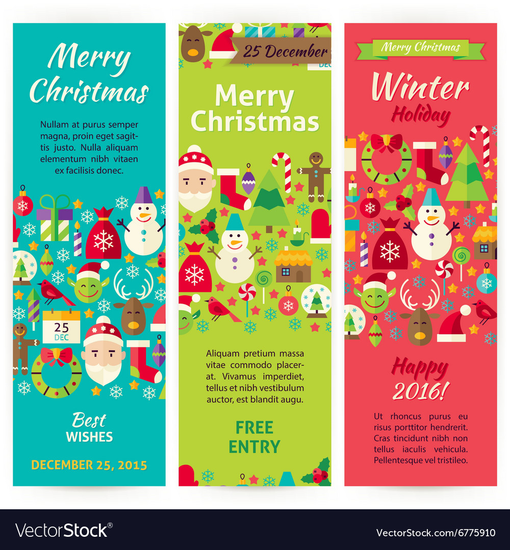 winter christmas holiday invitation template flyer