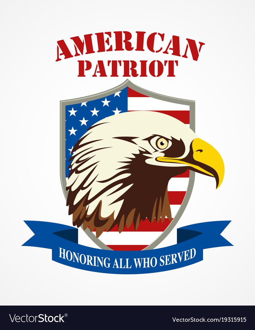 American patriot coat arms