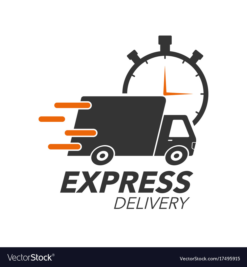 express delivery icon concept truck with stop vector image