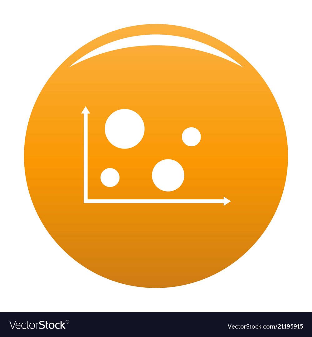 Finance diagram icon orange