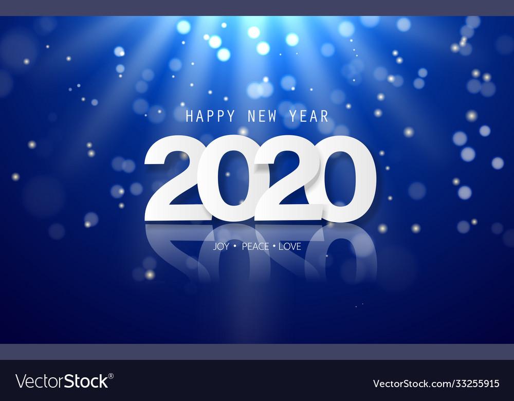 Happy new year 2020 background design