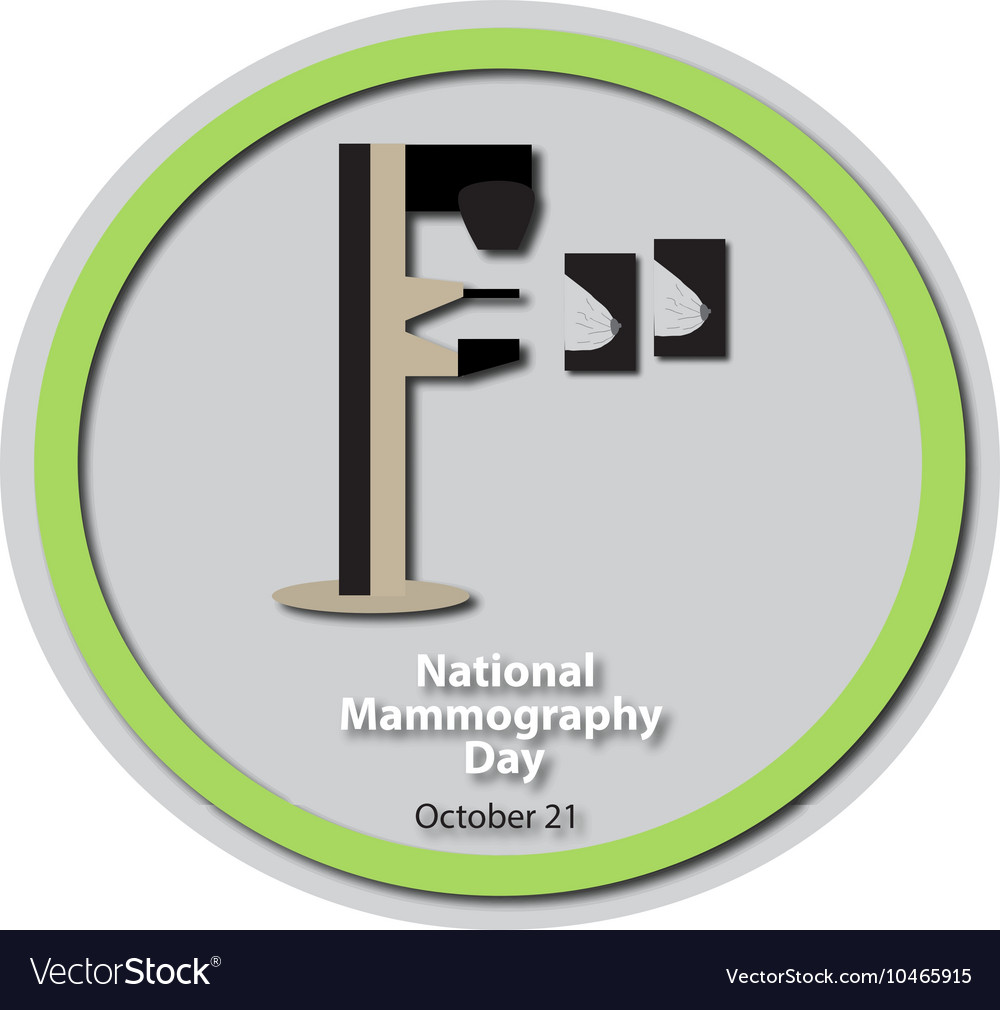 Mammography National Day - 21 October Diagnosis vector image