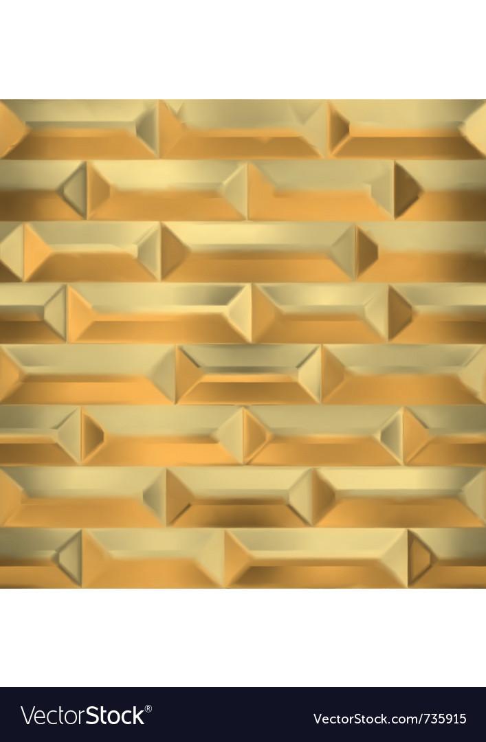 Seamless gold wall vector image