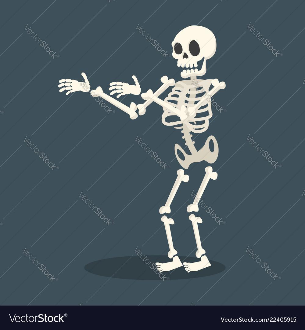 Skeleton flat style