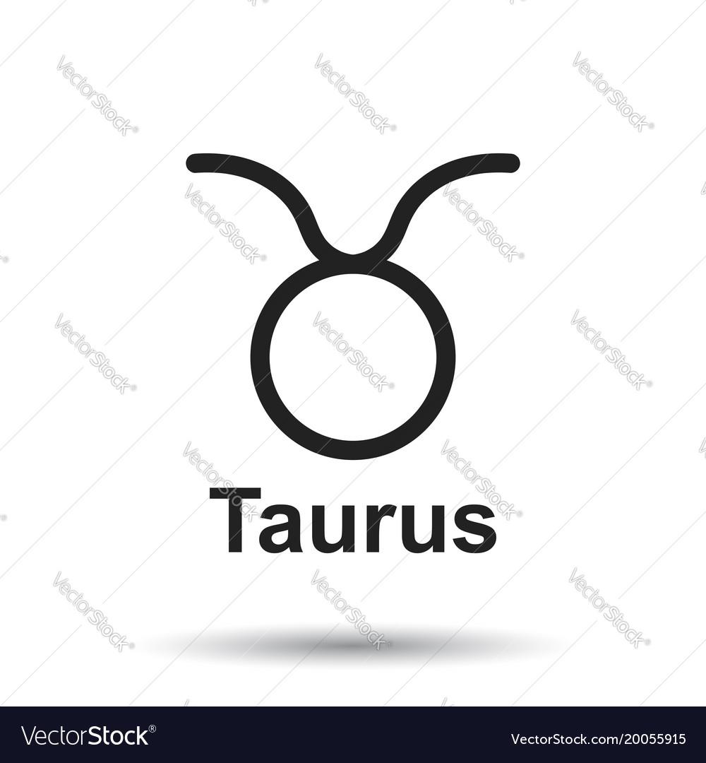 Taurus Zodiac Sign Flat Astrology On White Vector Image