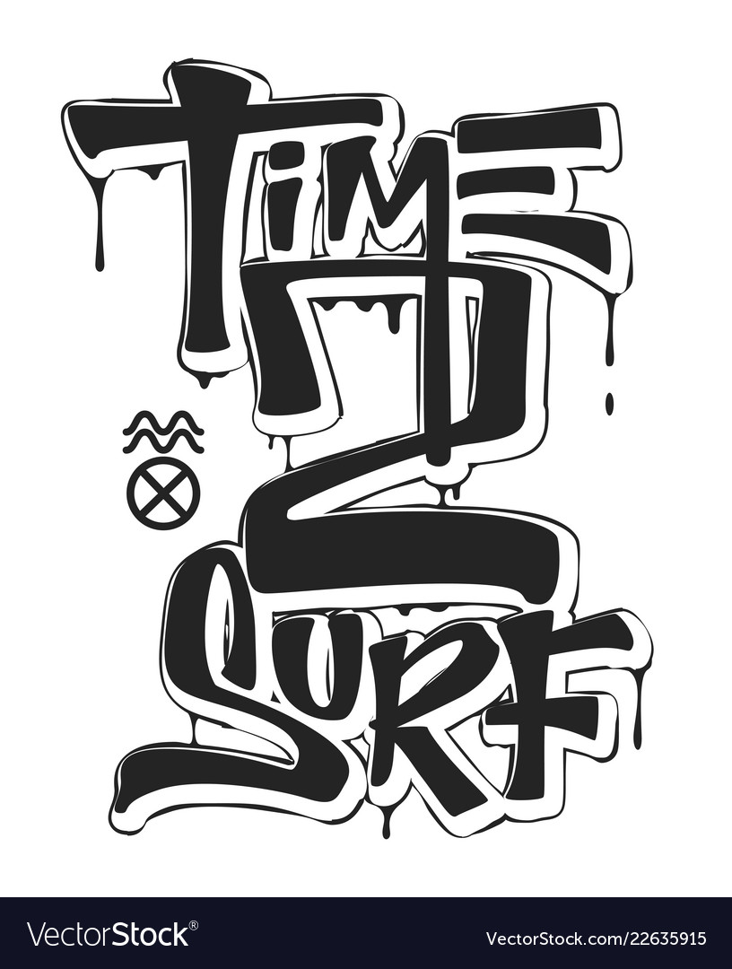 Time To Surf Print Design For T Shirt