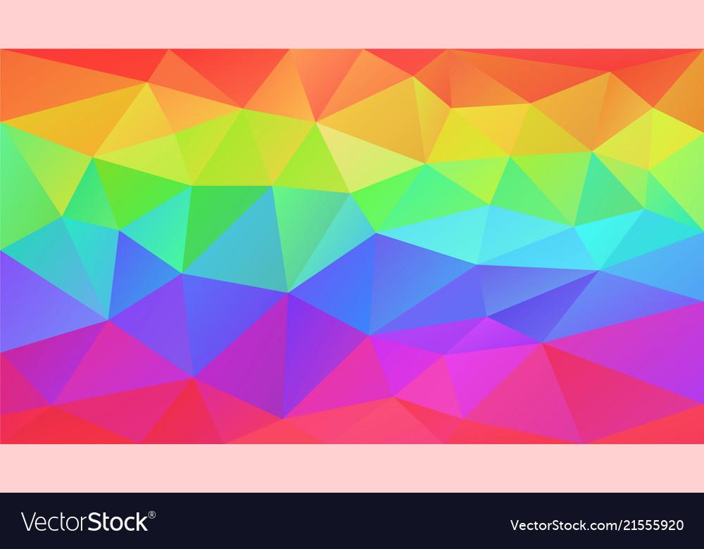 Abstract irregular polygonal background rainbow