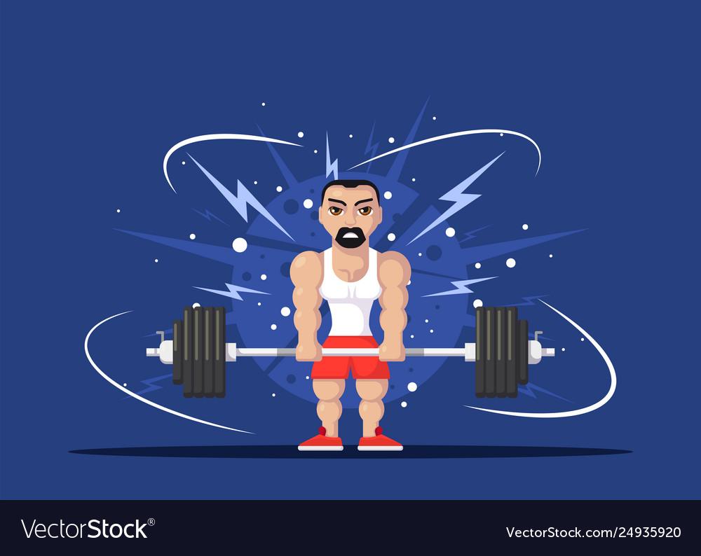 Athlete doing deadlift
