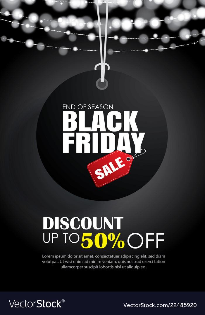 Black friday sale flyer template dark background