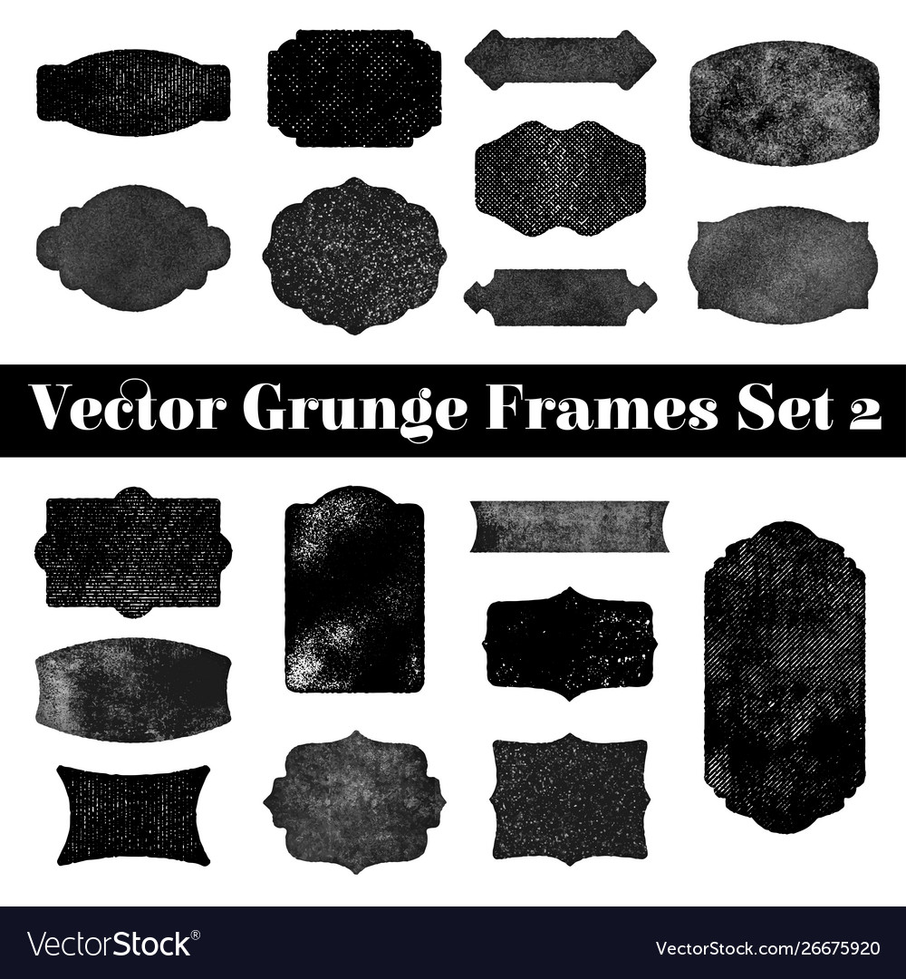 Collection grunge stamp shapes