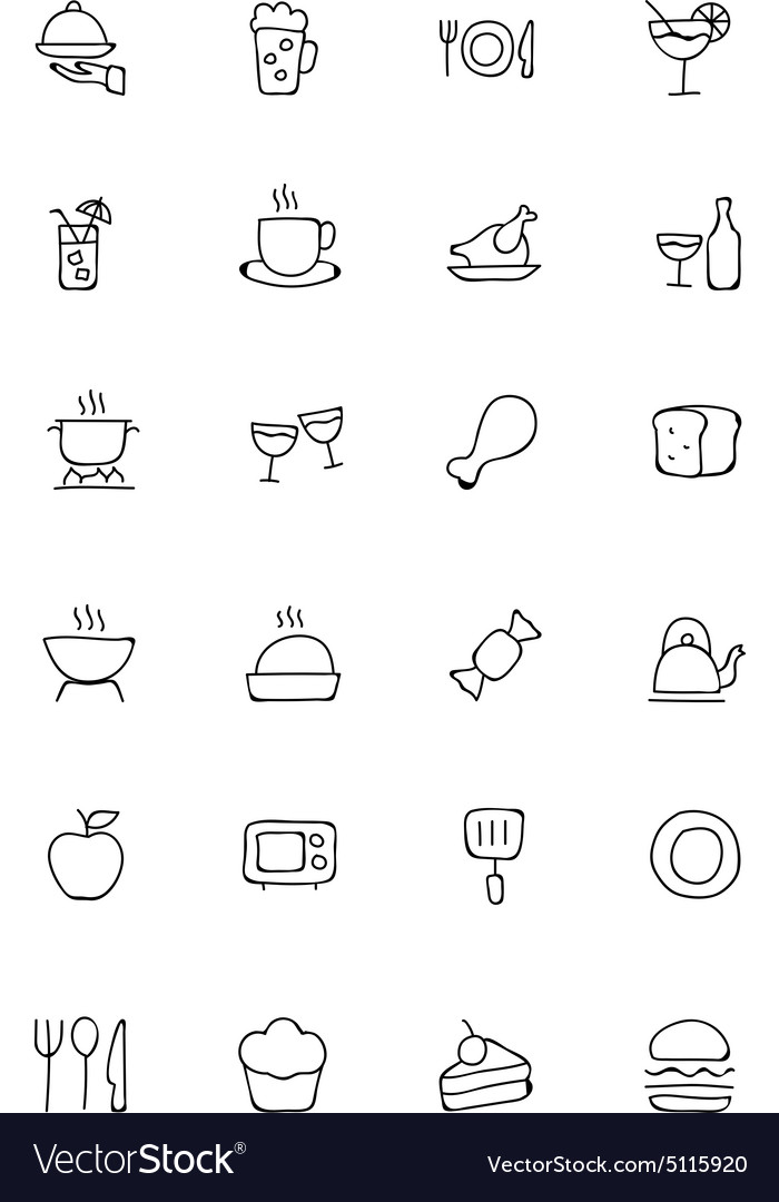 Food Hand Drawn Outline Icons 1